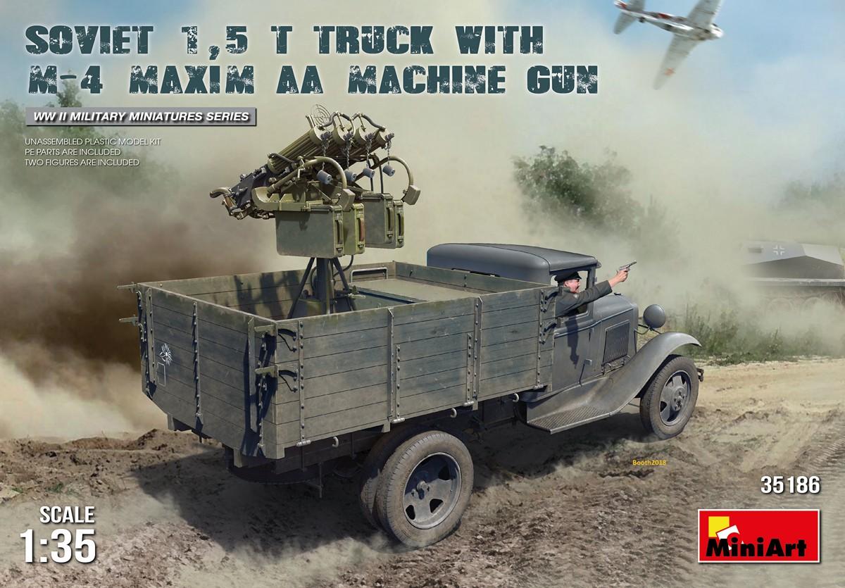 MiniArt Soviet 1,5 t Truck w/ M-4 Maxim AA Machine Gun (1/35)