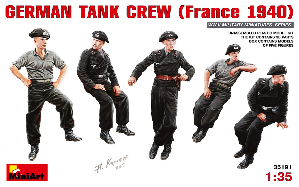 MiniArt German Tank Crew (France 1940) (1/35)