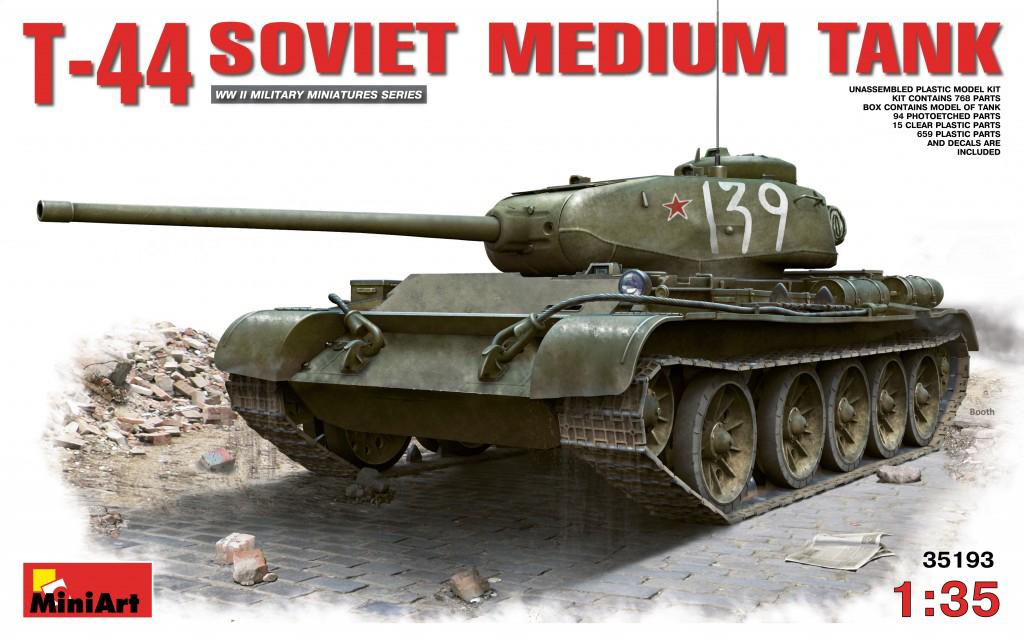 MiniArt T-44 Soviet Medium Tank (1/35)