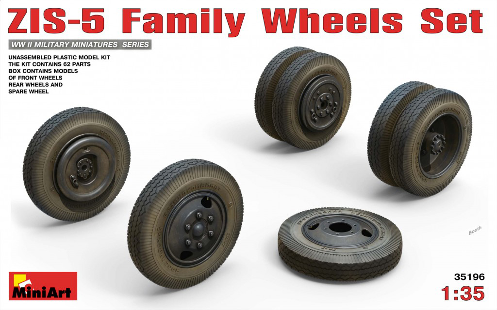 MiniArt ZIS-5 Family Wheels Set (1/35)