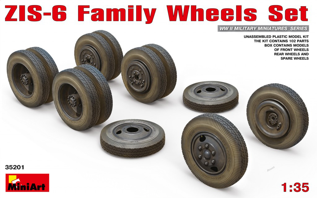 MiniArt ZIS-6 Family Wheels Set (1/35)