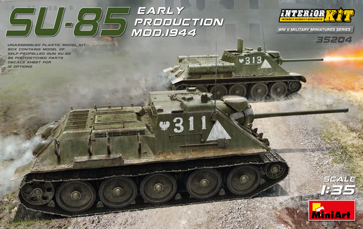 MiniArt SU-85 Mod. 1944 (Early Production) w/ Interior Kit (1/35)