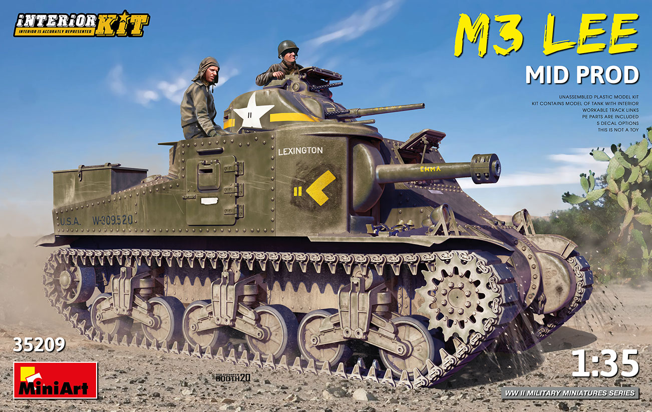 MiniArt 1/35 M3 Lee Mid Prod. Interior Kit