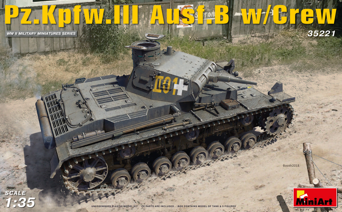 MiniArt Pz.Kpfw.3 Ausf.B w/Crew (1/35)
