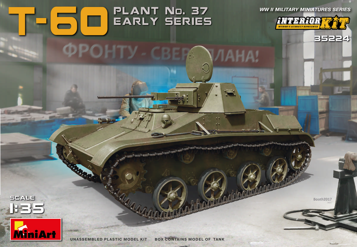 MiniArt T-60 (Plant No.37) Early Series. Interior Kit (1/35)