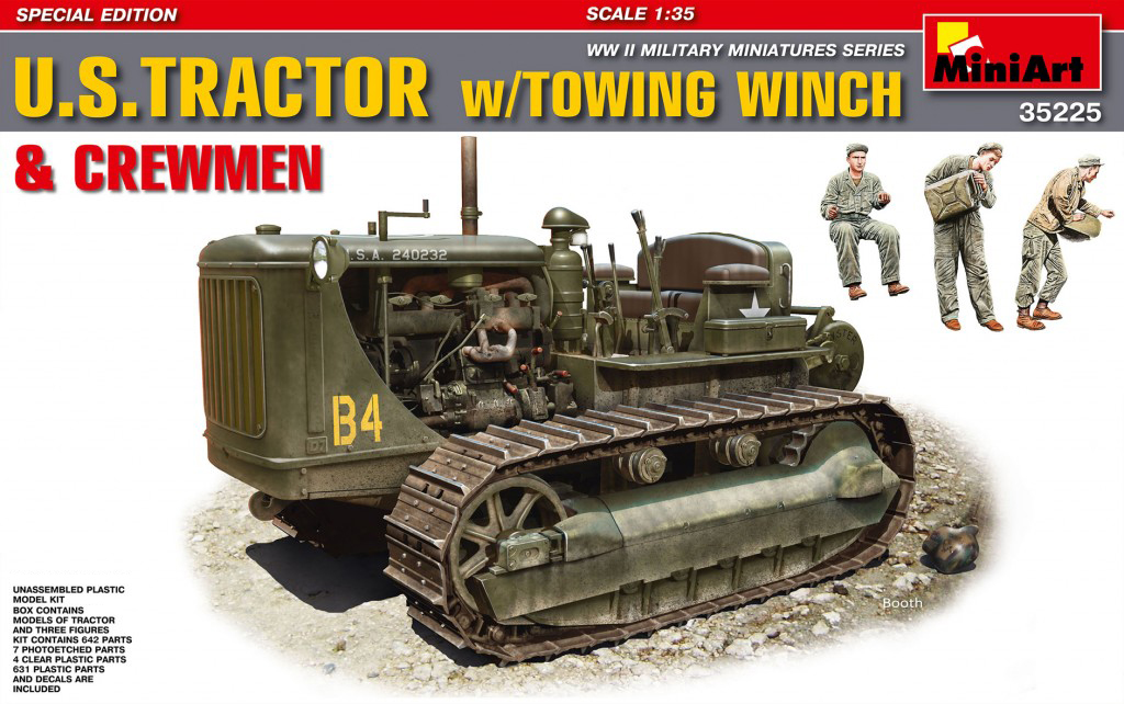 MiniArt U.S.Tractor w/Towing Winch & Crewmen.Special Edition (1/35)
