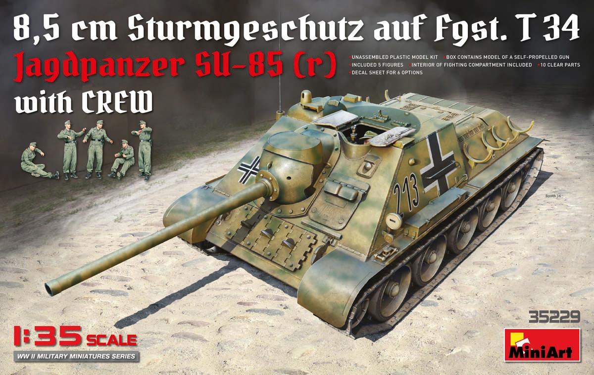 MiniArt Jagdpanzer SU-85 ( r ) w/Crew (1/35)