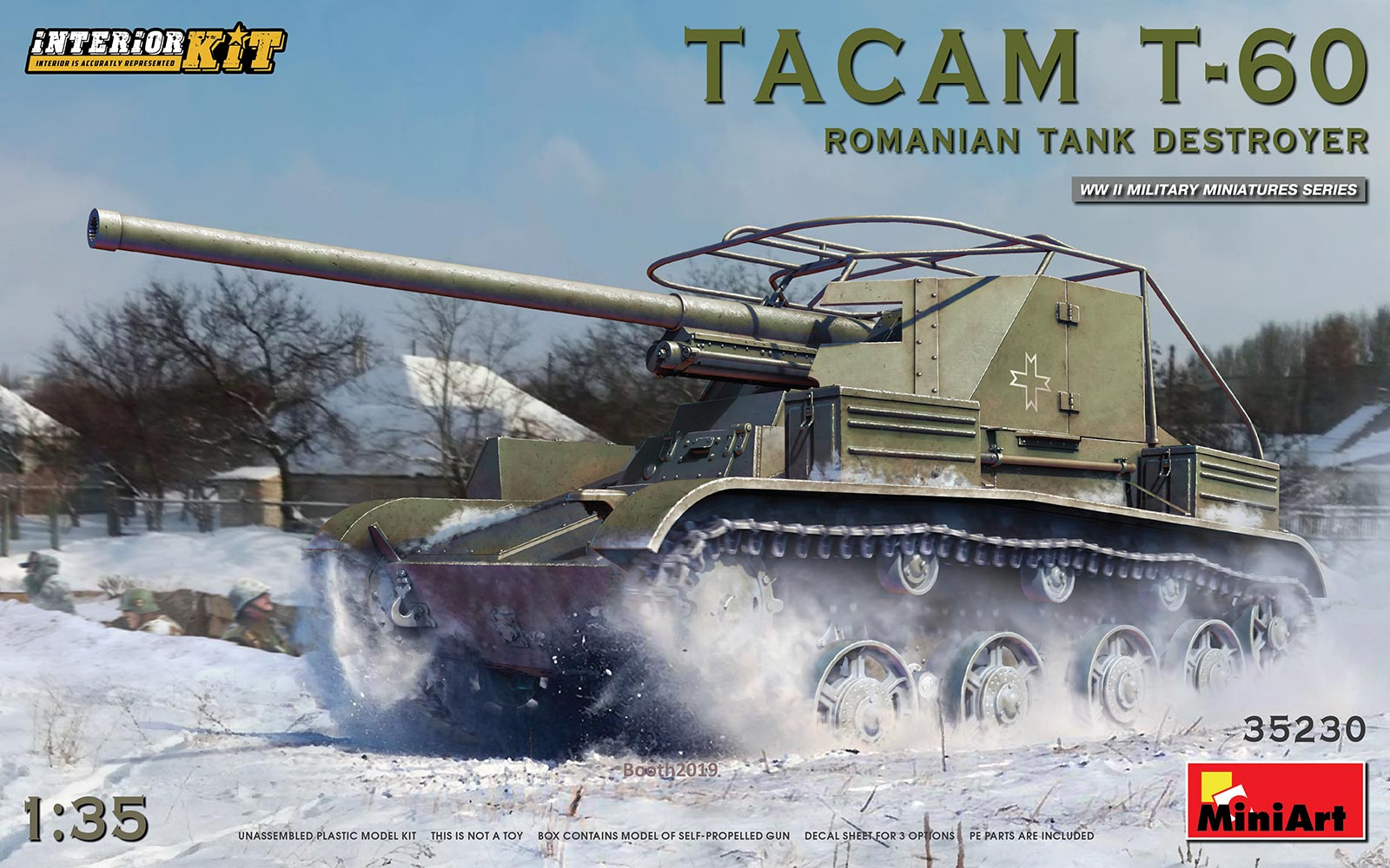 MiniArt Tacam T-60 Romanian Tank Destroyer. Interior Kit