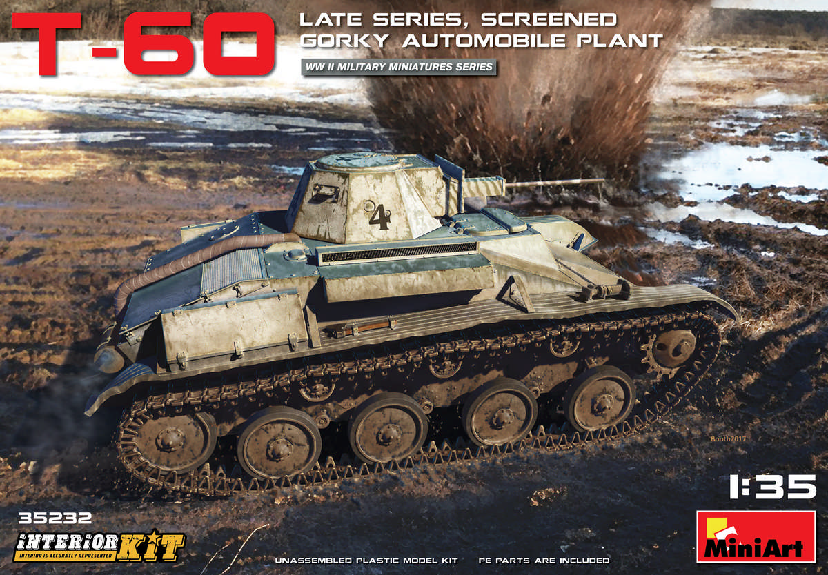 MiniArt T-60 Late Series, Screened (Gorky Automobile Plant) Interior Kit (1/35)
