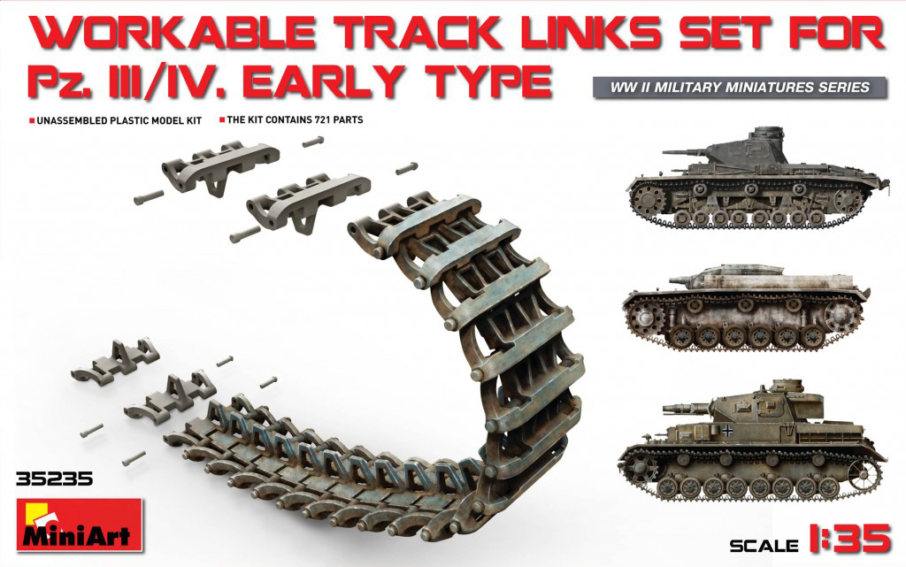 MiniArt Pz.Kpfw III/IV Workable Track Links Set.Early Type (1/35)