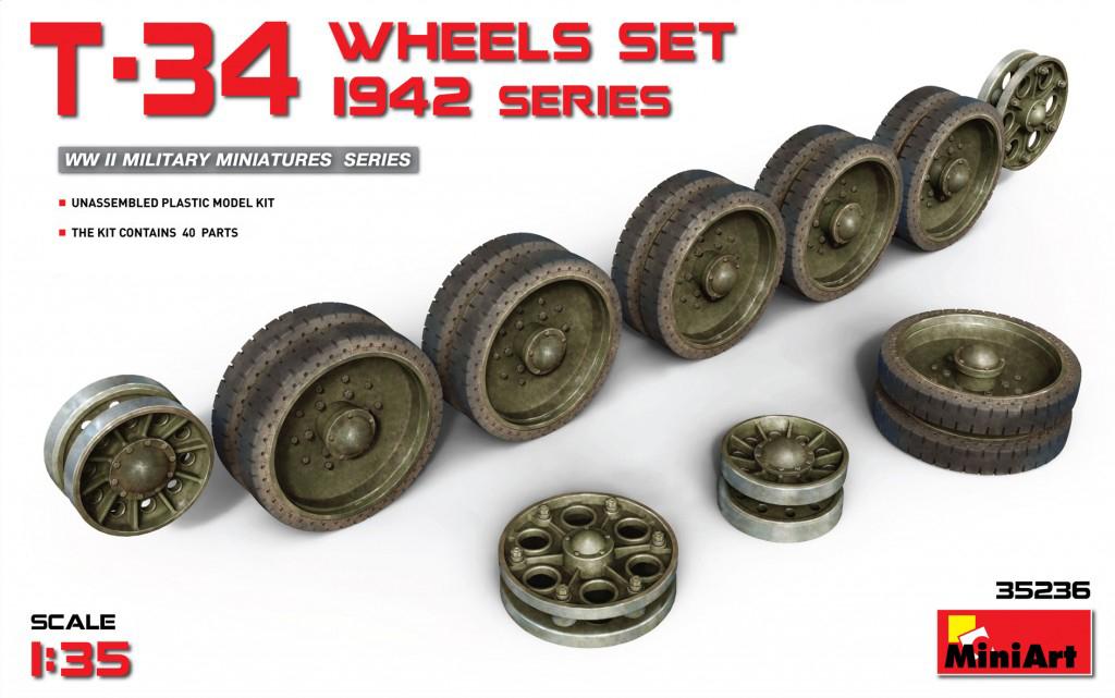MiniArt T-34 Wheels Set. 1942 Series (1/35)