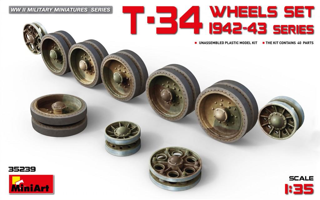 MiniArt T-34 Wheels Set. 1942-43 Series (1/35)