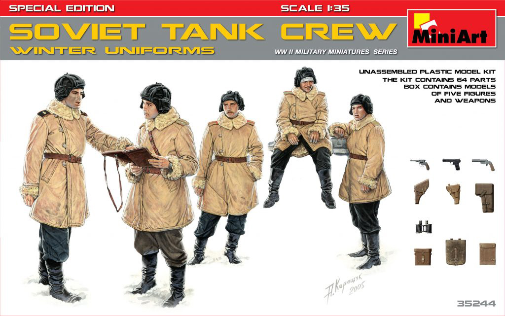 MiniArt Soviet Tank Crew (Winter Uniforms).Special Edition (1/35)