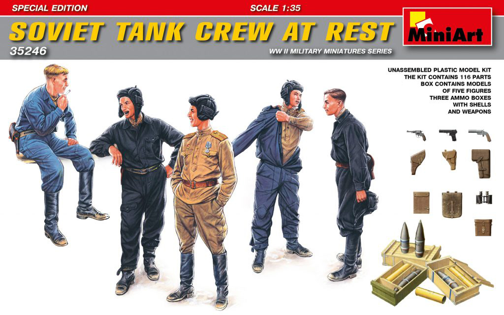 MiniArt Soviet Tank Crew at Rest.Special Edition (1/35)