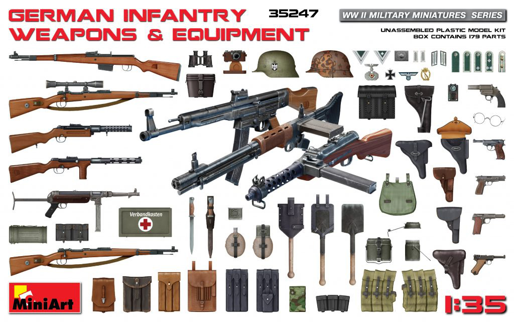 MiniArt German Infantry Weapons & Equipment (1/35)