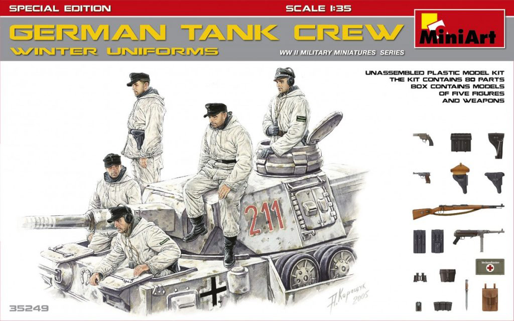 MiniArt German Tank Crew (Winter Uniforms). Special Edition (1/35)