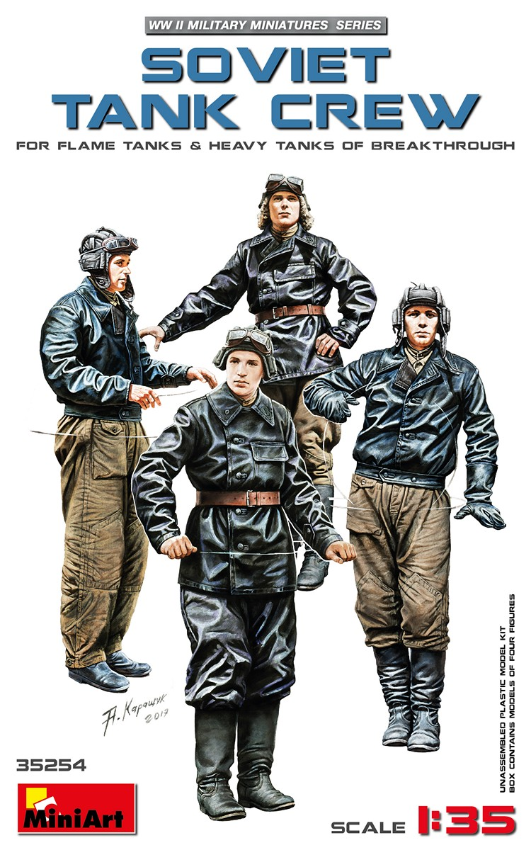 MiniArt Soviet Tank Crew (for Flame Tanks & Heavy Tanks of Breakthrough) (1/35)