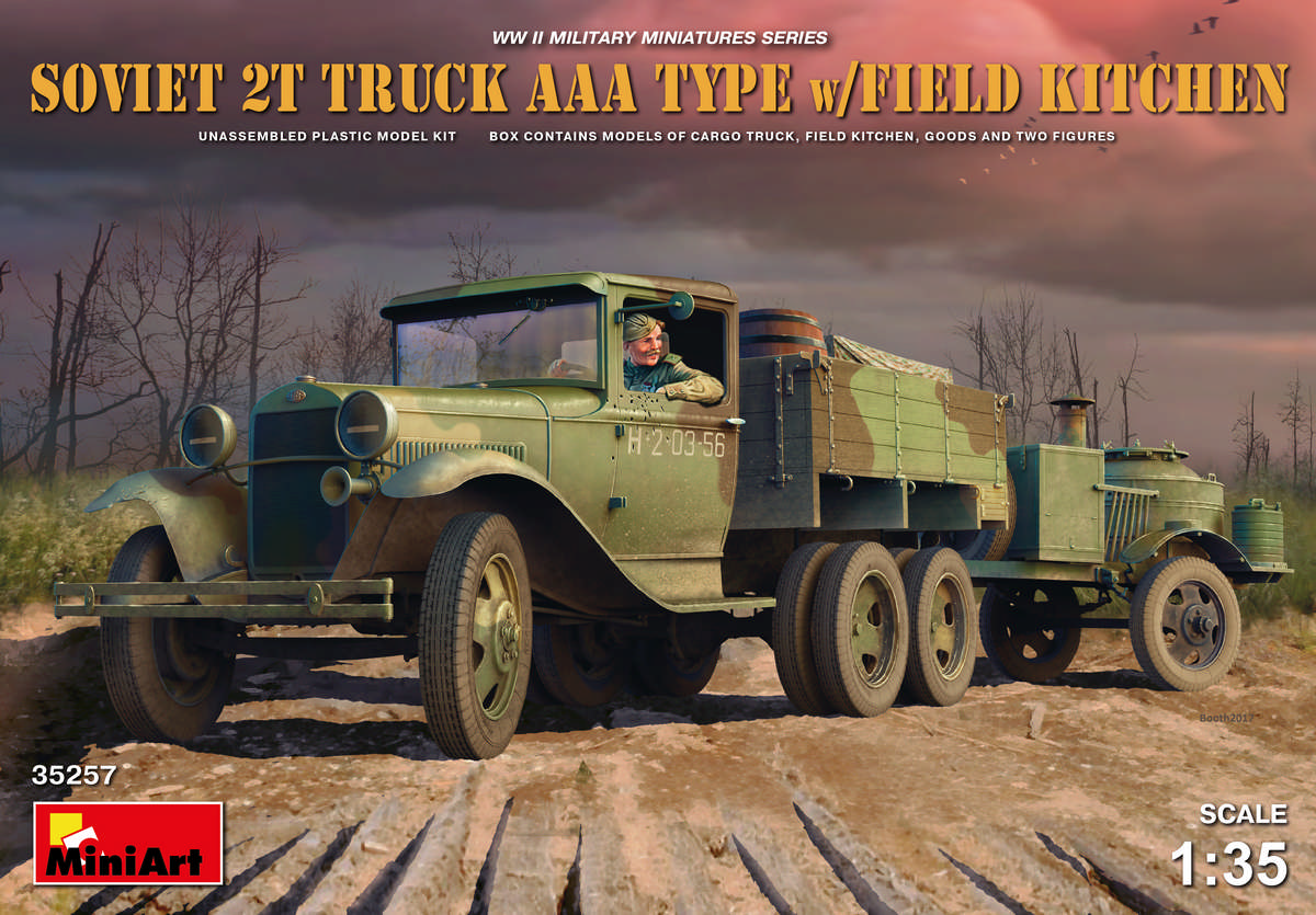 MiniArt Soviet 2 t Truck AAA Type w/Field Kitchen (1/35)