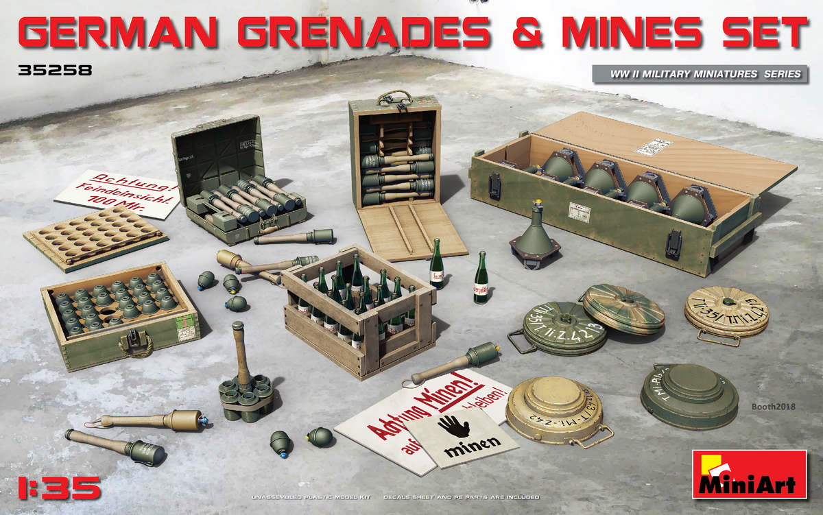 MiniArt German Grenades & Mines Set (1/35)