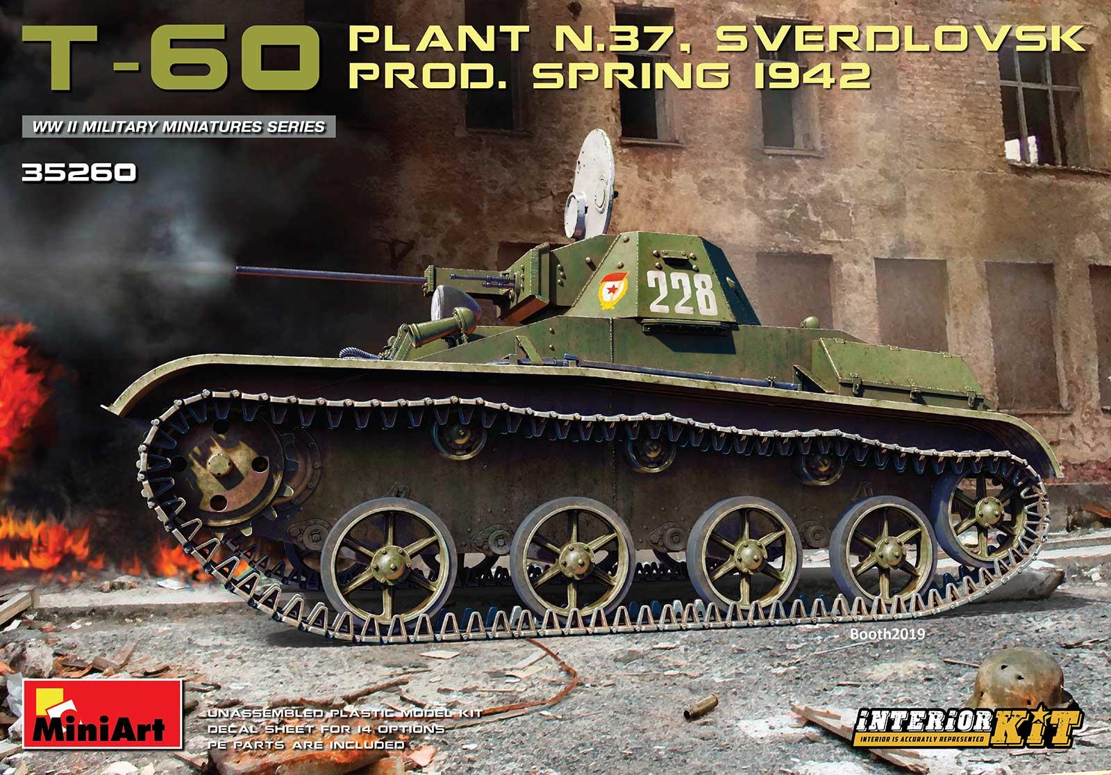 "MiniArt ""T-60 (Plant ?.37) Prod.Spring 1942. Interior Kit"""
