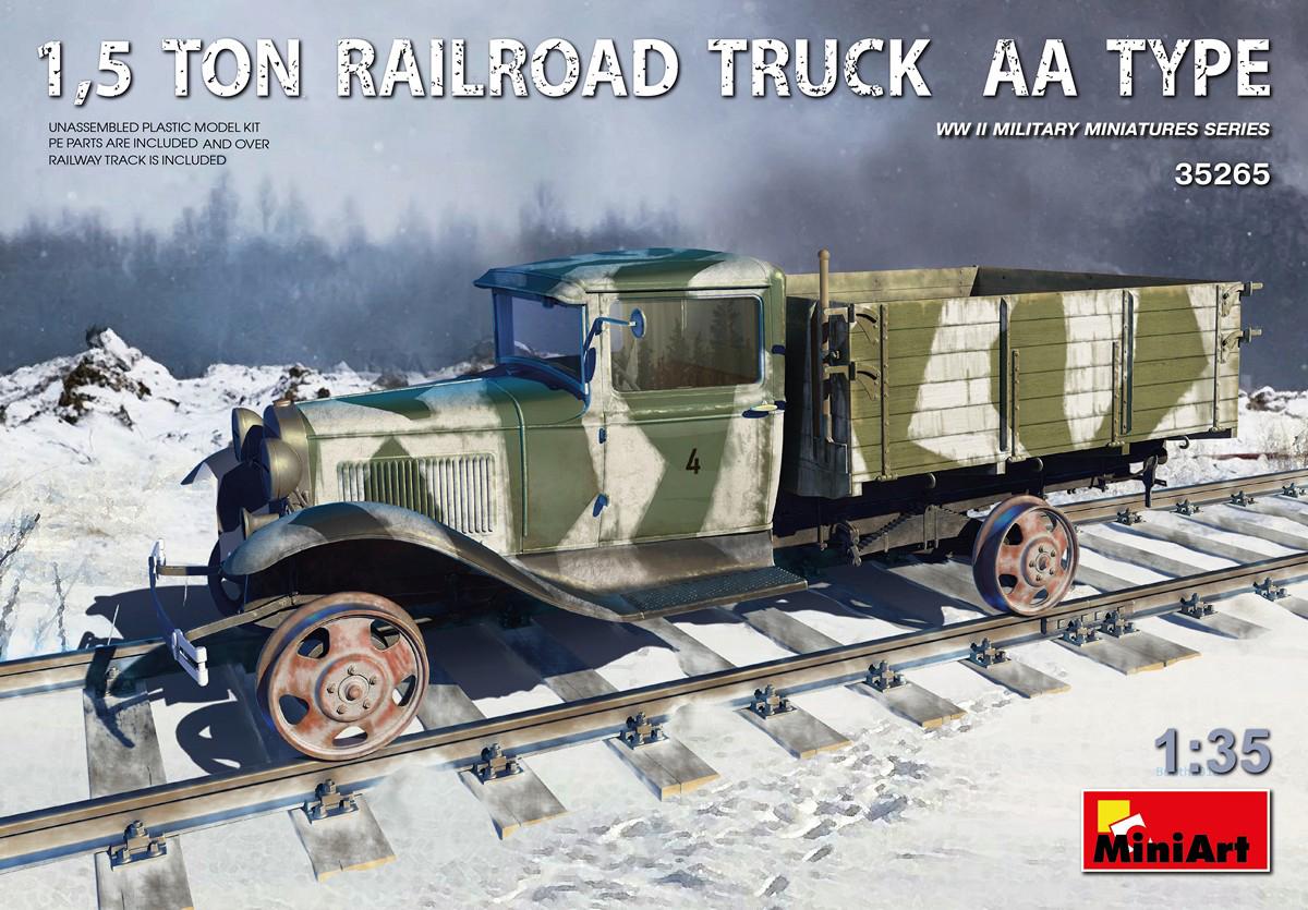 MiniArt 1,5 Ton Railroad Truck AA Type (1/35)