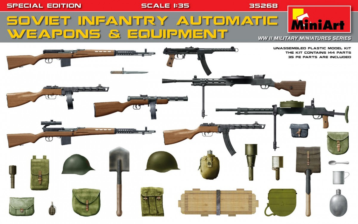 MiniArt Soviet Infantry Automatic Weapons & Equipment.Special Edition (PE Parts) (1/35)
