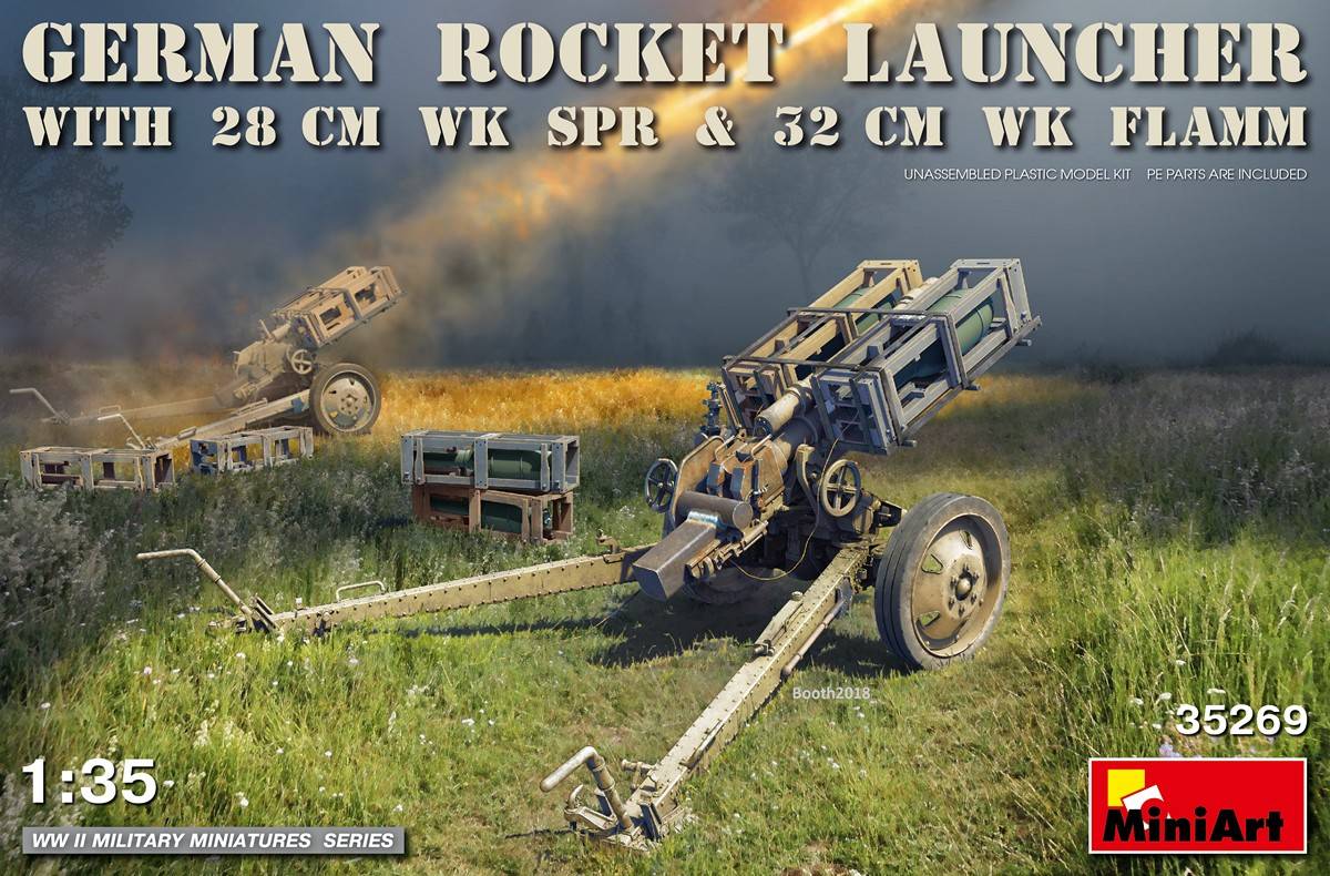 MiniArt German Rocket Launcher with 28cm WK Spr & 32cm WK Flamm (1/35)