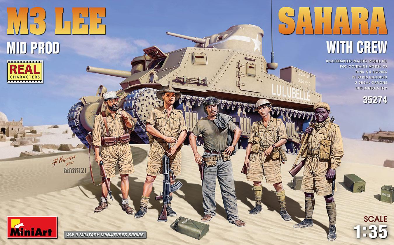 MiniArt 1/35 M3 Lee Mid Prod. Sahara w/Crew
