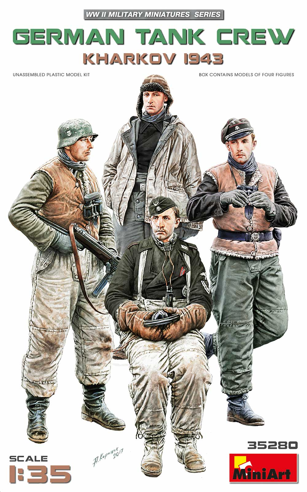 MiniArt German Tank Crew Kharkov 1943""