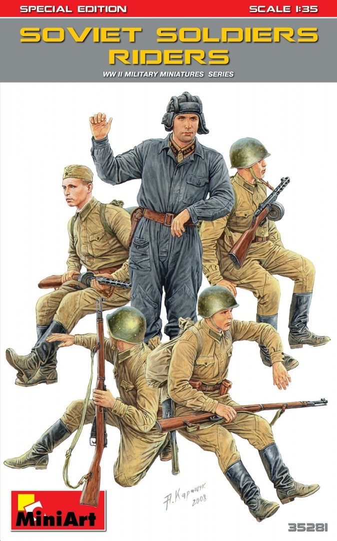 MiniArt Soviet Soldiers Riders. Special Edition (1/35)