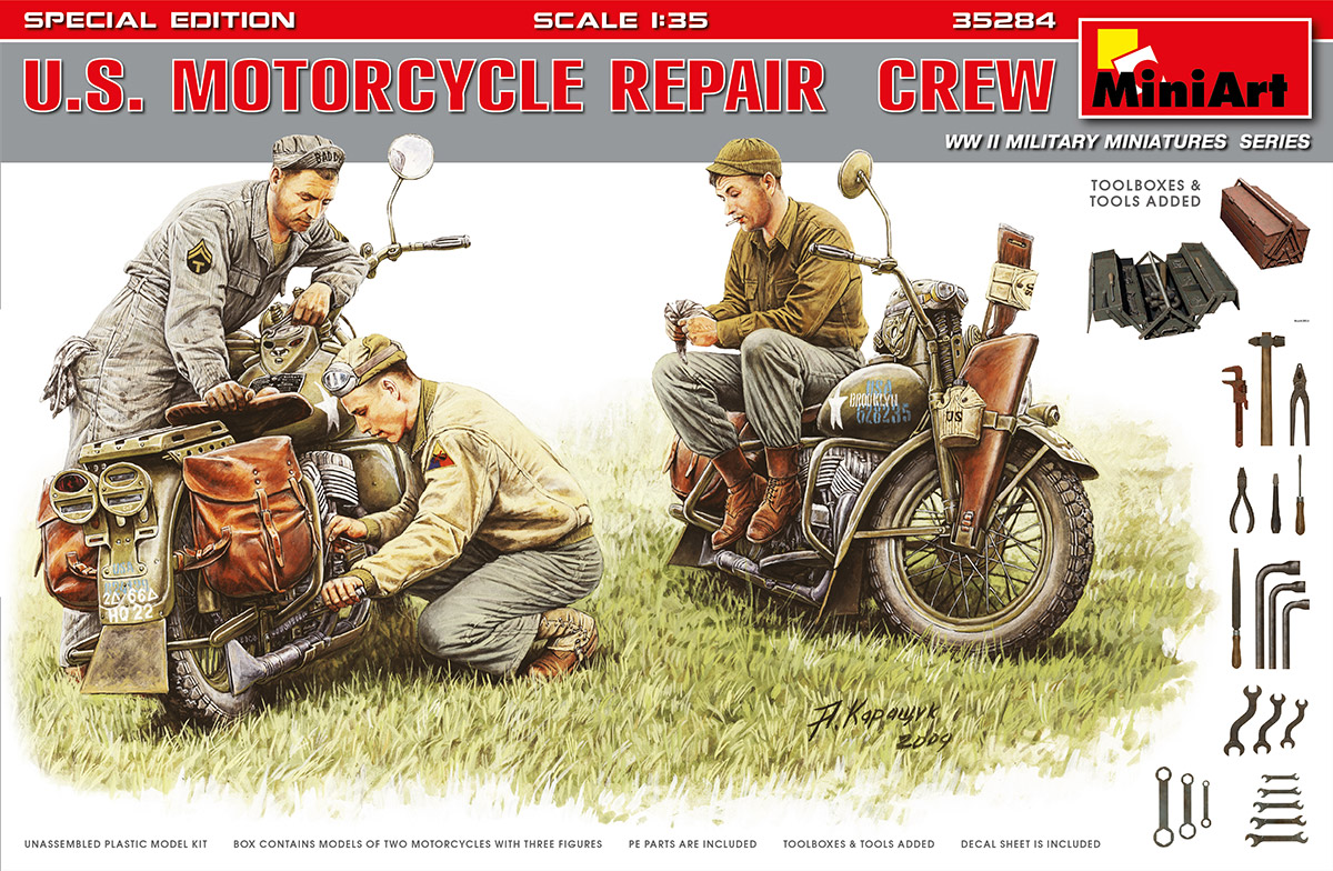 MiniArt U.S. Motorcycle Repair Crew. Special Edition (1/35)