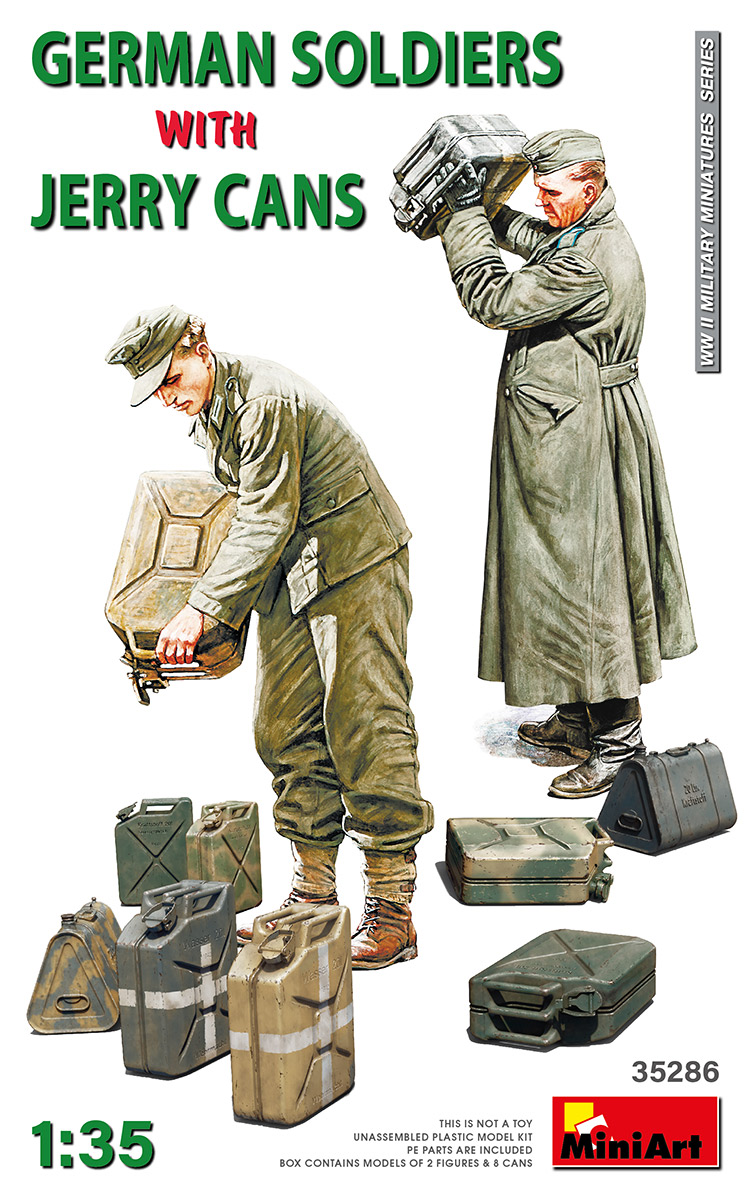 MiniArt German Soldiers w/Jerry Cans