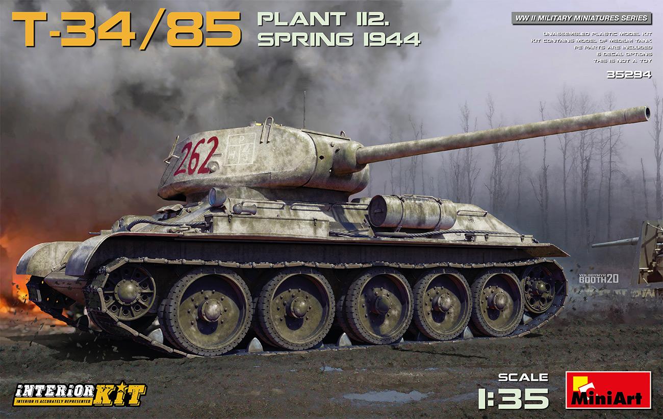 Miniart 1/35 T-34-85 Plant 112 Spring 1944, Interior Kit