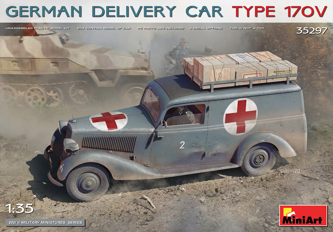 MiniArt German Delivery Car Type 170V 1/35 Scale