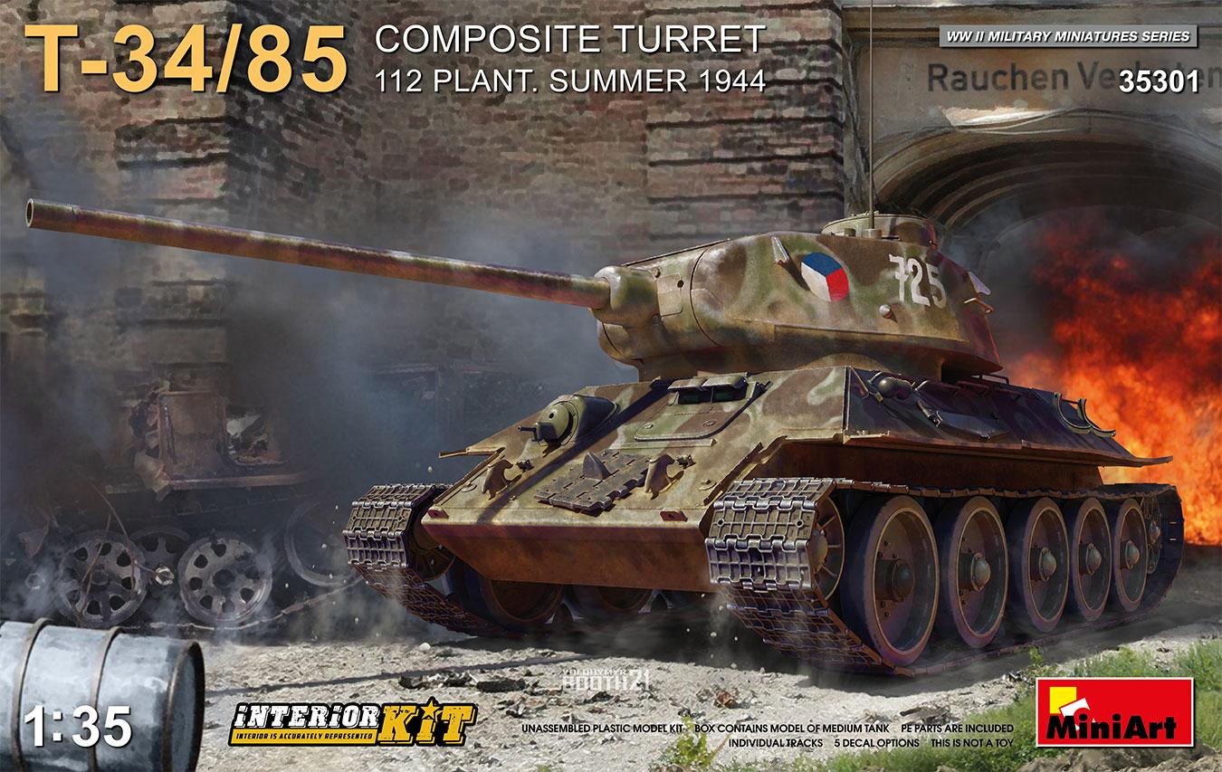 MiniArt 1/35 T-34-85 Composite Turret. 112 Plant. Summer 1944 Interior Kit