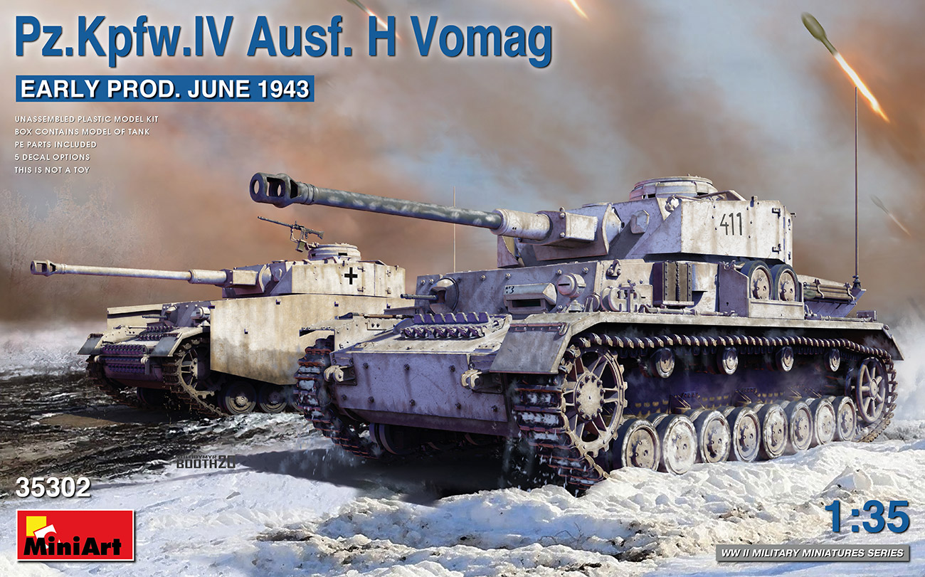 MiniArt 1/35 Pz.Kpfw.IV Ausf. H Vomag. Early Production June 1943