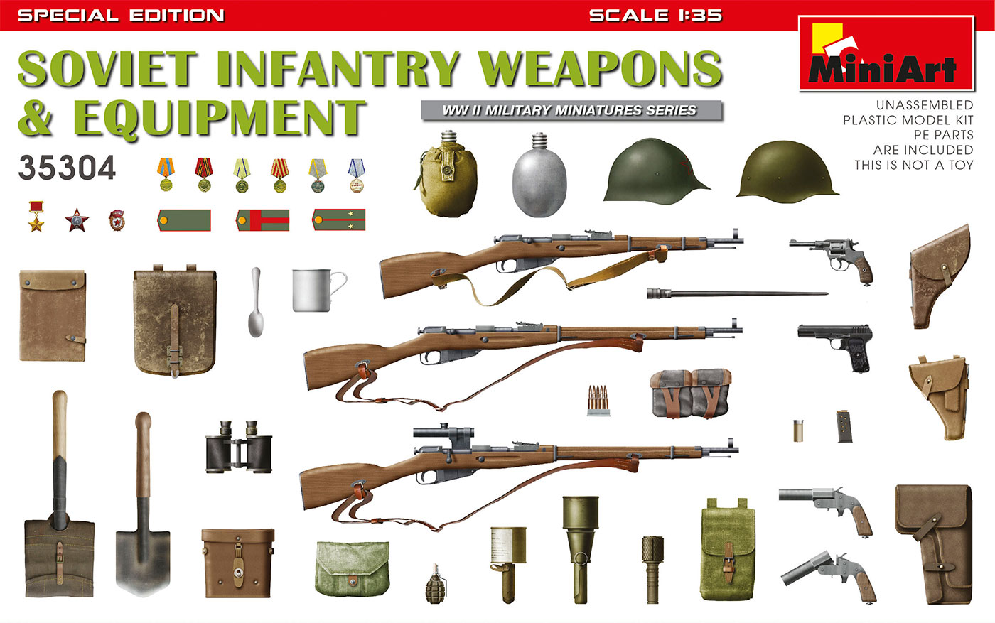 MiniArt Soviet Infantry Weapons and Equipment. Special Edition
