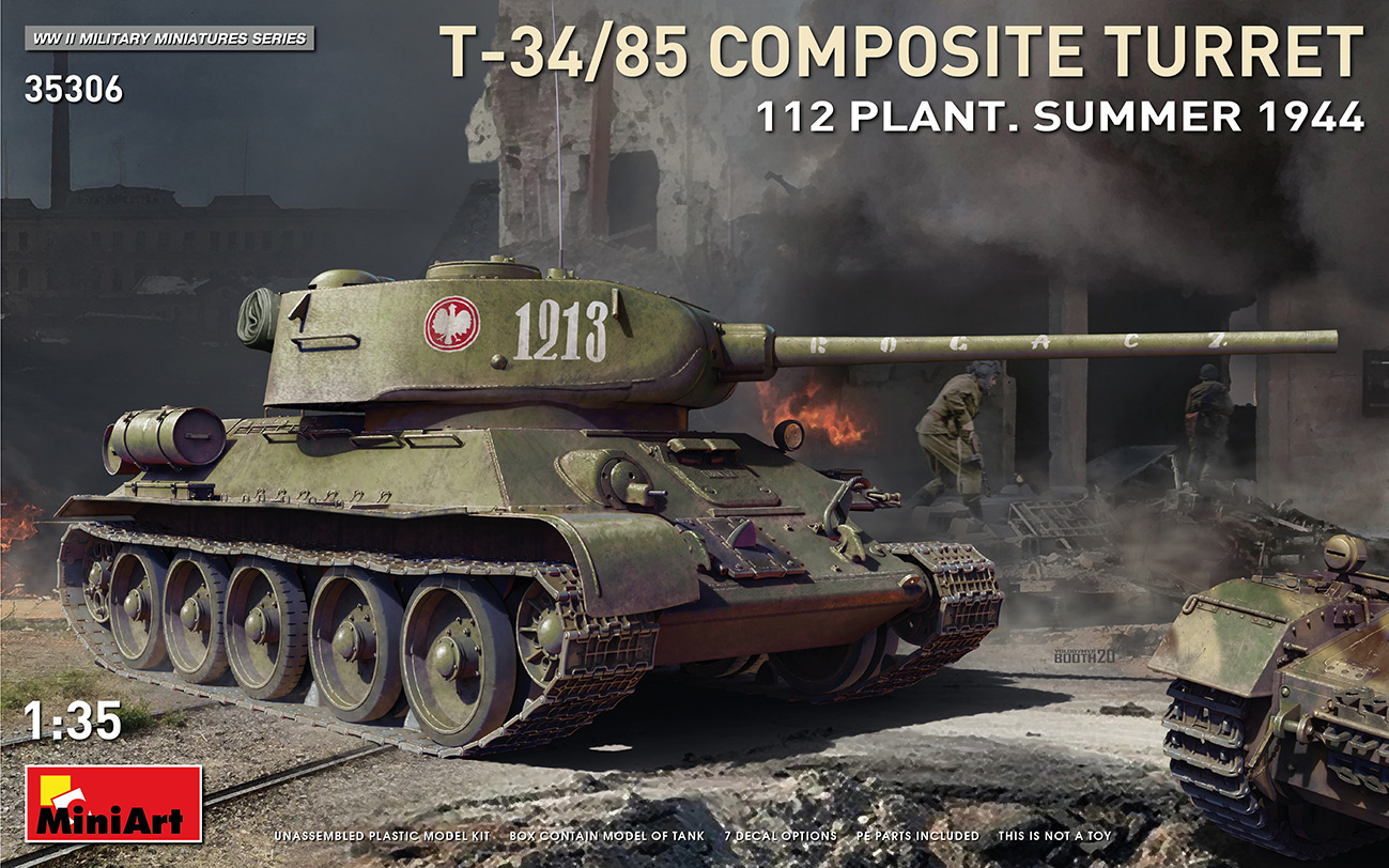 MiniArt T-34/85 Composite Turret. 112 Plant. Summer 1944 1/35 Scale