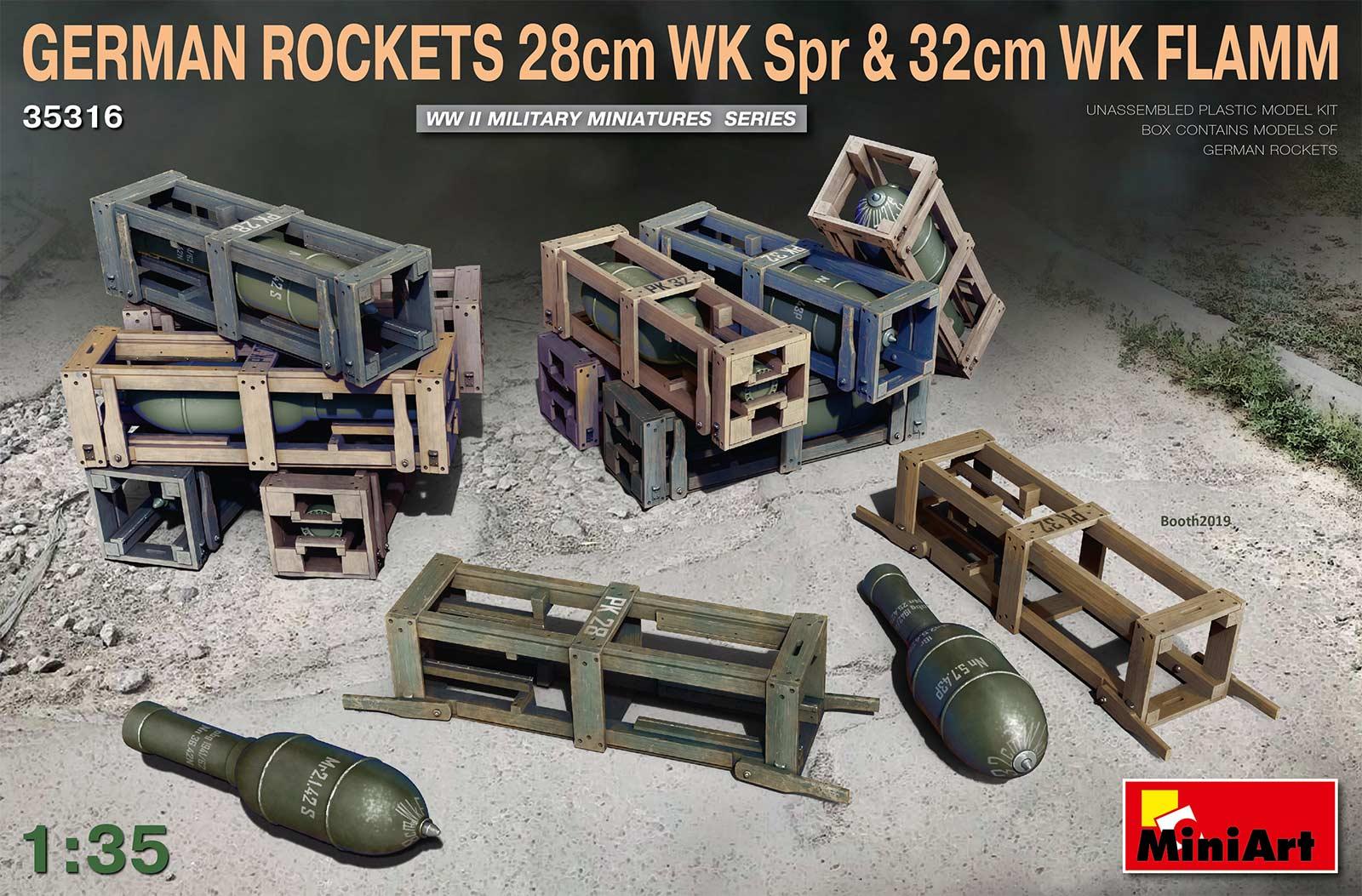 MiniArt 1/35 German Rockets 28cm WK Spr & 32cm WK Flamm