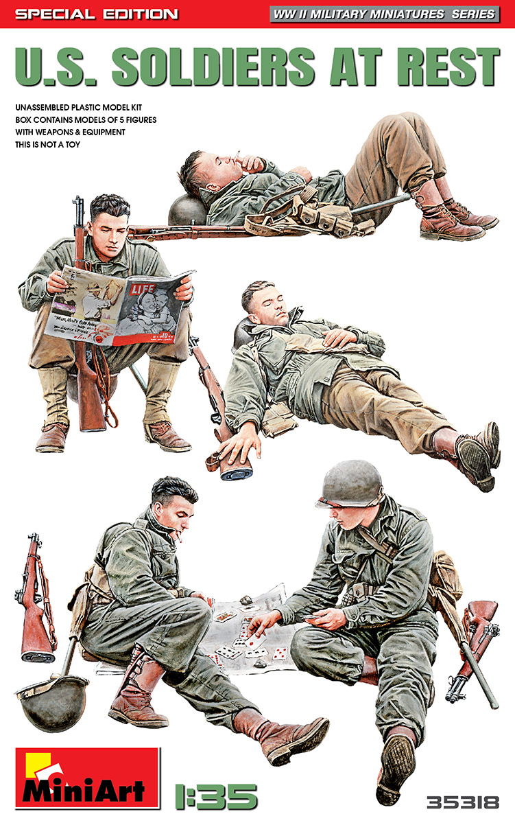 MiniArt 1/35 US Soldiers at Rest Special Edition