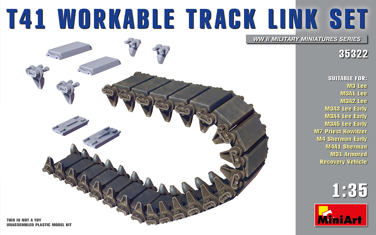 MiniArt T41 Workable Track Link Set