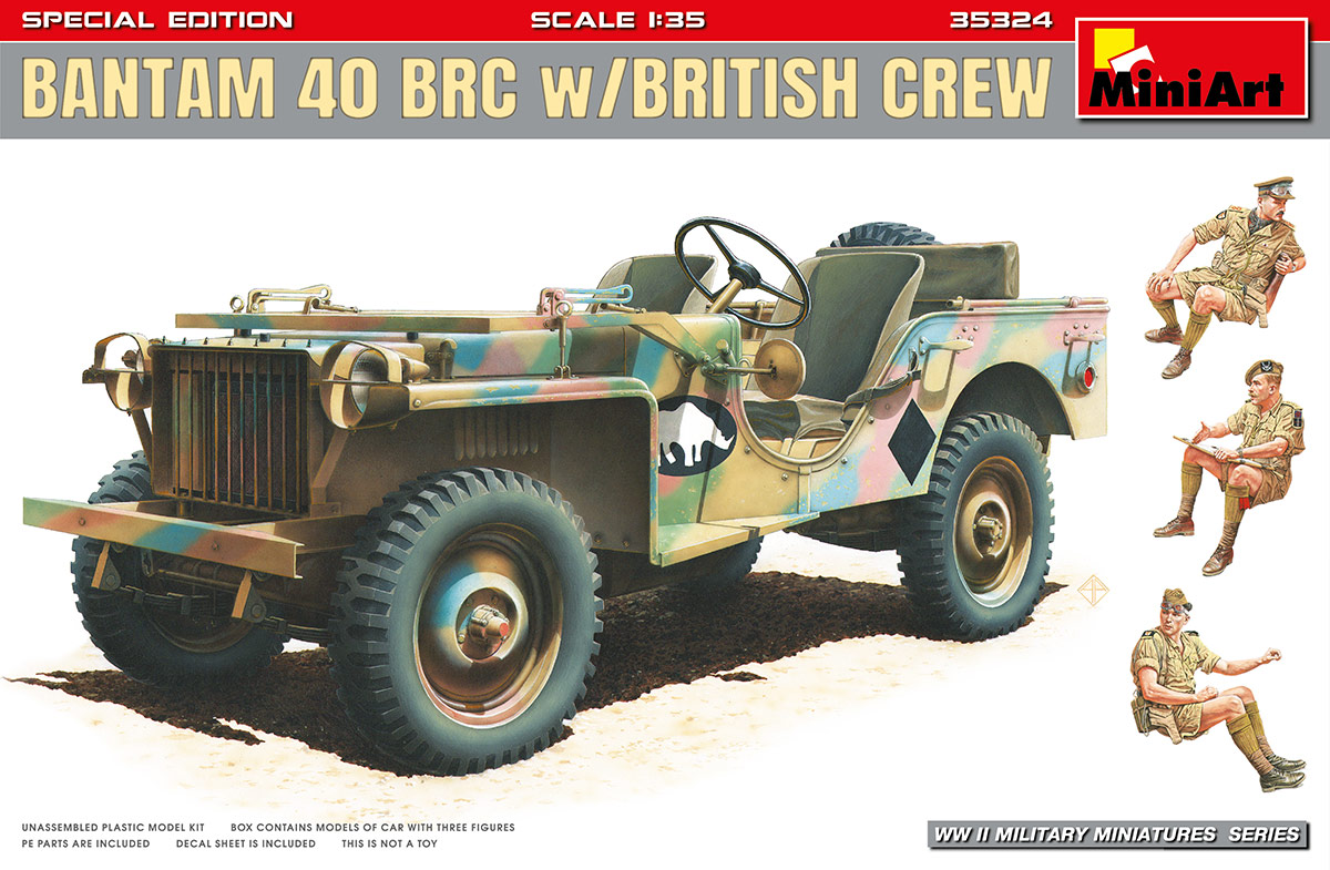 MiniArt Bantam 40 BRC w/ British Crew. Special Edition