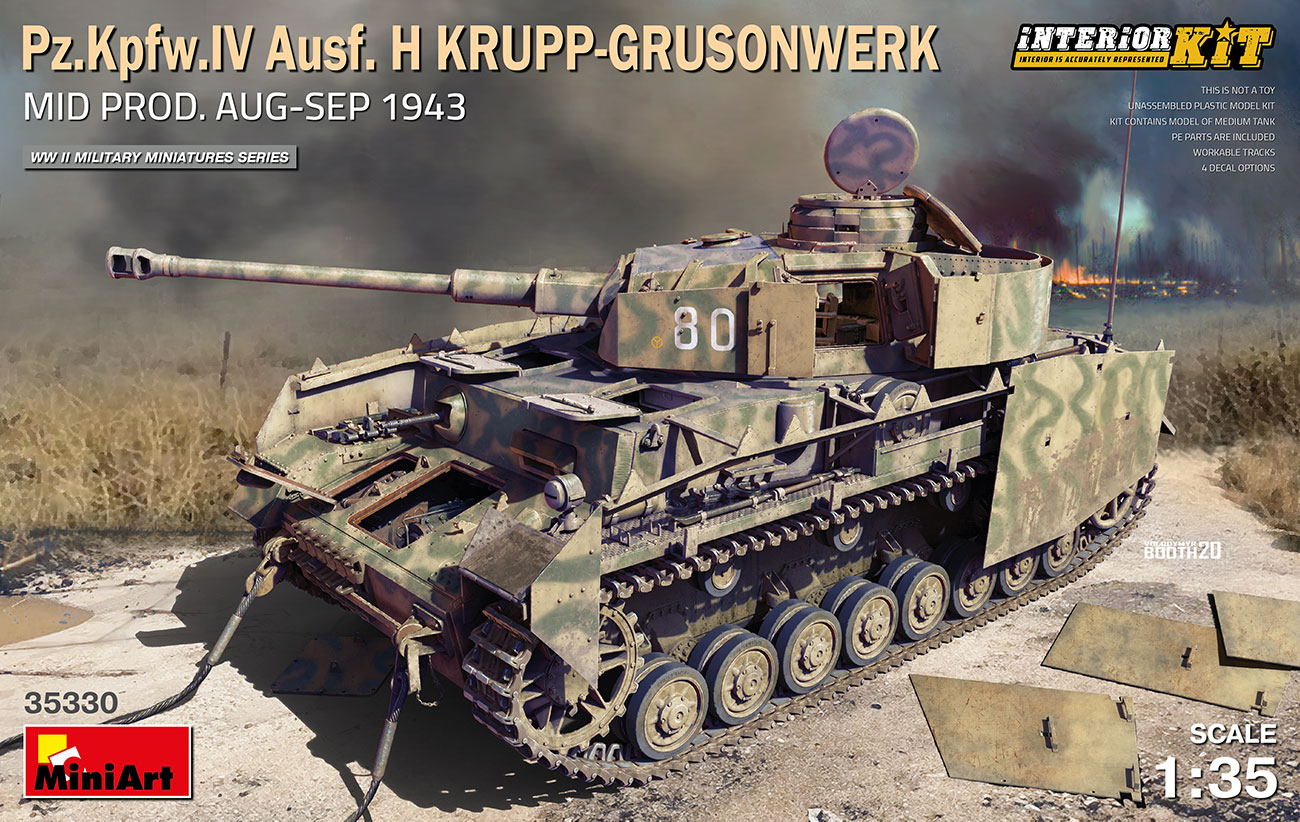MiniArt 1/35 Pz.Kpfw.IV Ausf. H Krupp-Grusonwerk. Mid Production Aug-Sep 1943 Interior Kit