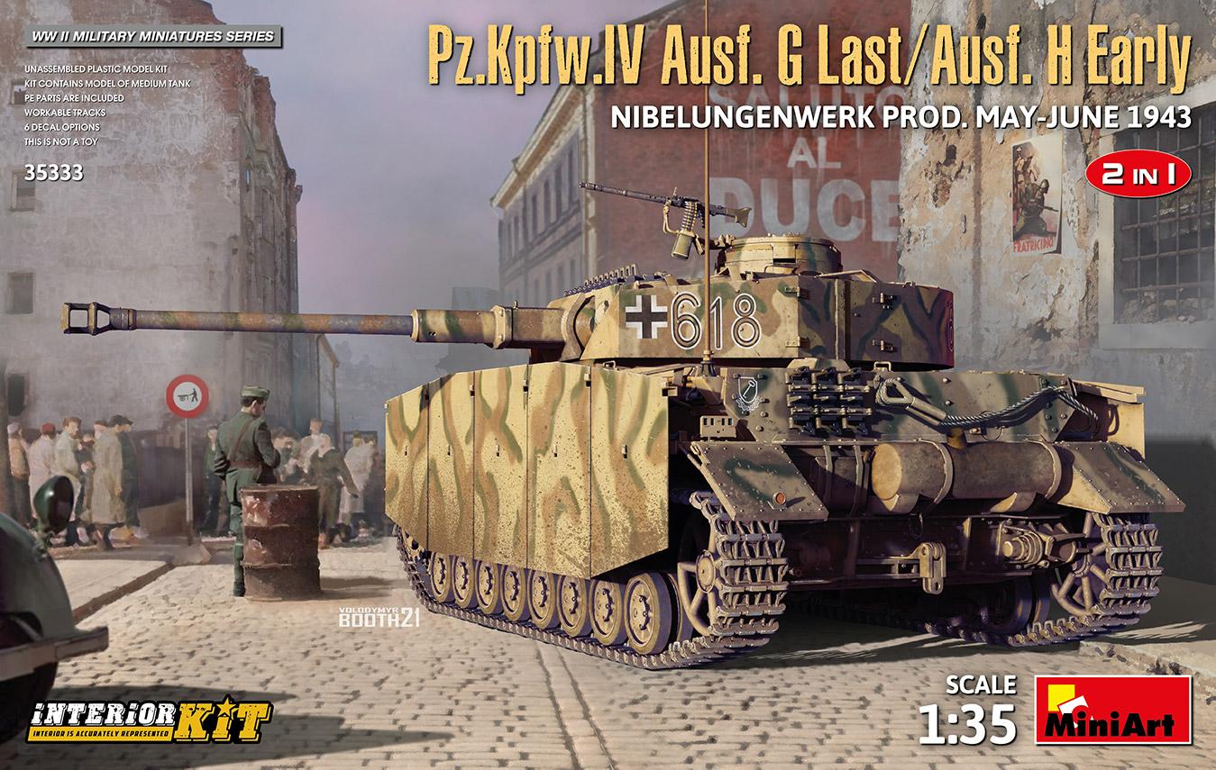 MiniArt 1/35 Pz.Kpfw.IV Ausf. G-Last/H-Early Nibelungenwerk Prod. (May-June 1943) 2 in 1 Interior Kit