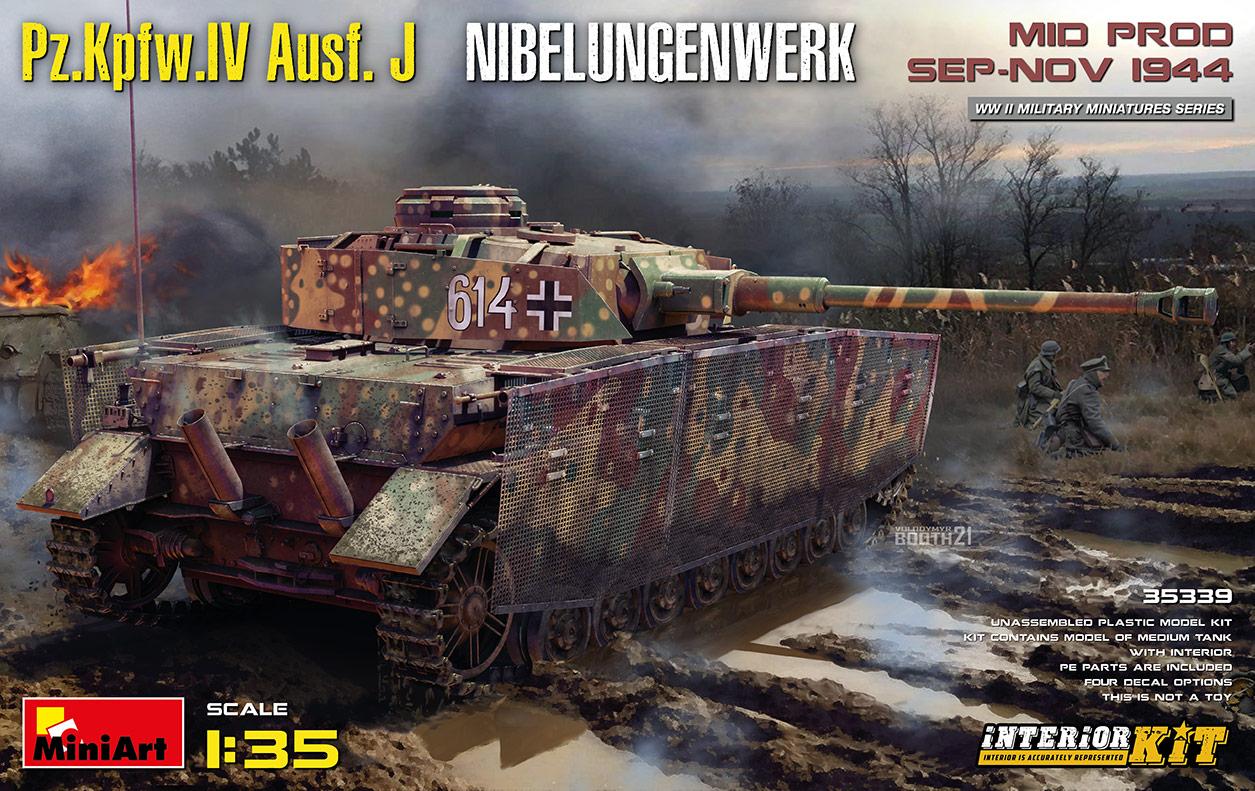 MiniArt 1/35 Pz.Kpfw.Iv Ausf. J Nibelungenwerk. Mid Prod. (Sep-Nov 1944) Interior Kit