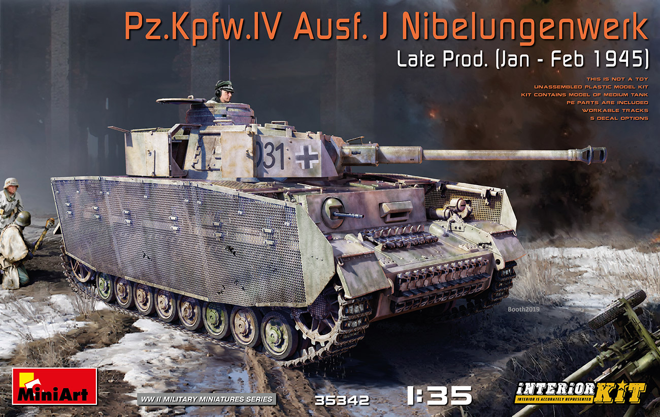 MiniArt 1/35 Pz.Kpfw.IV Ausf. J Nibelungenwerk Late Prod. (Jan - Feb 1945) Interior Kit