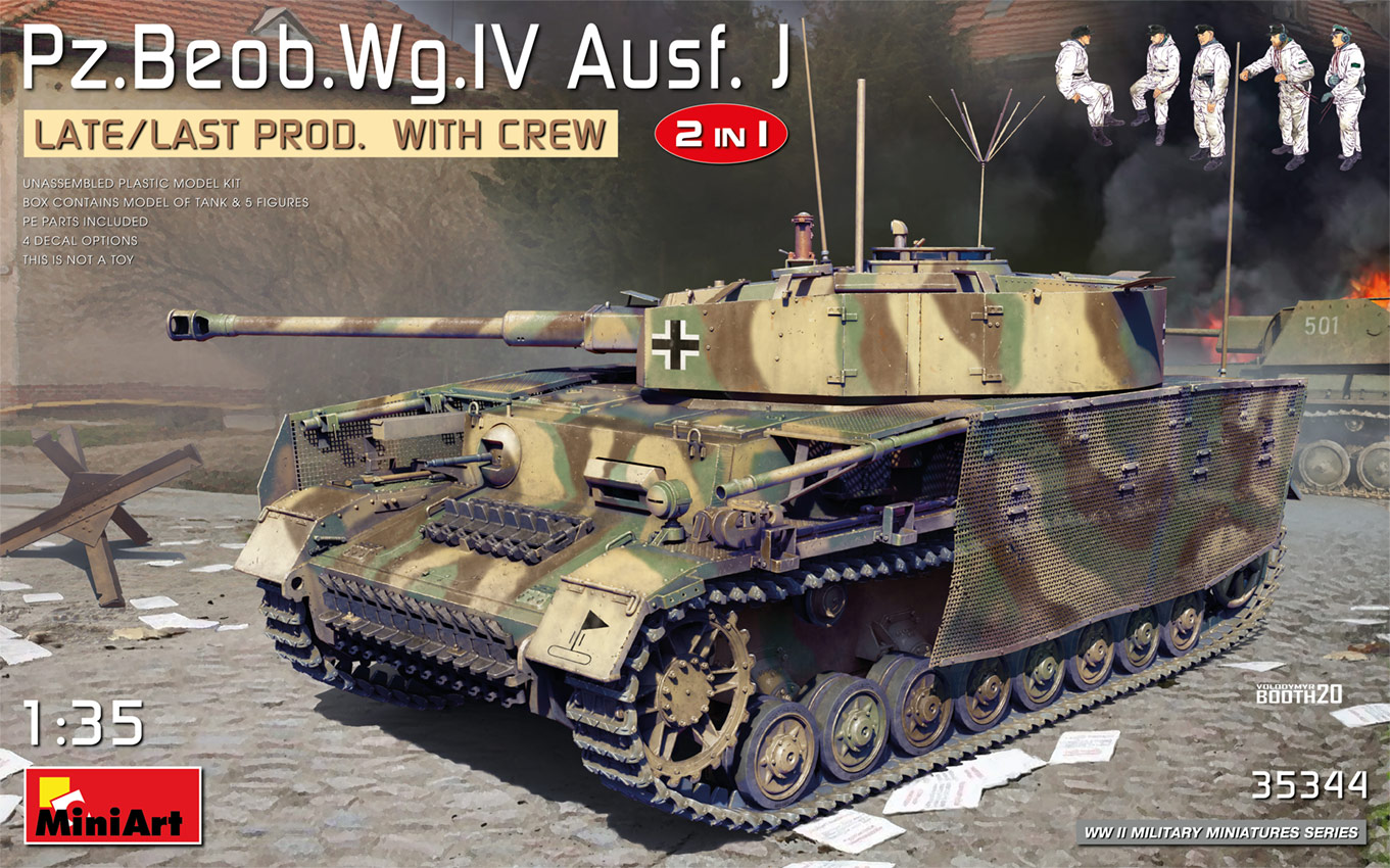 MiniArt 1/35 Pz.Beob.Wg.IV Ausf. J Late/Last Prod. 2 in 1 with Crew
