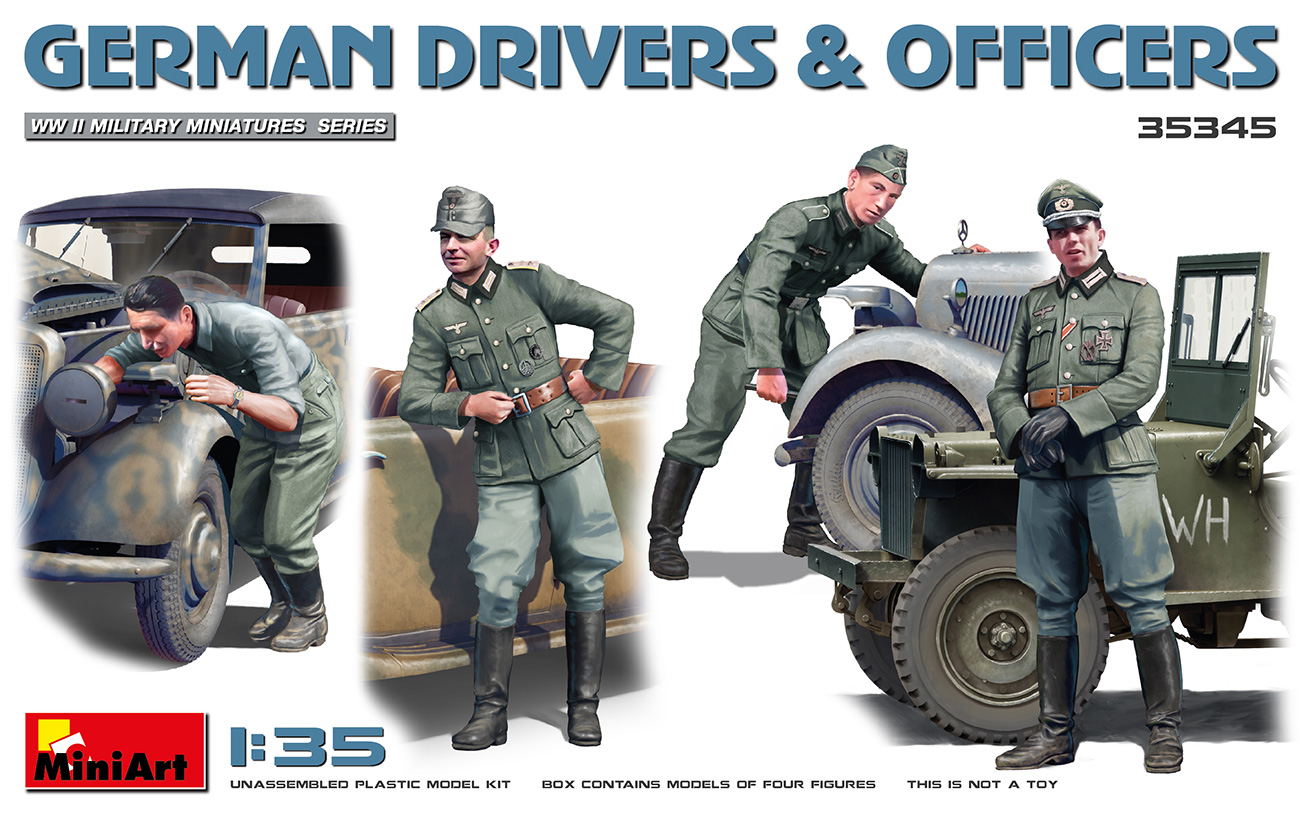 MiniArt 1/35 German Drivers & Officers