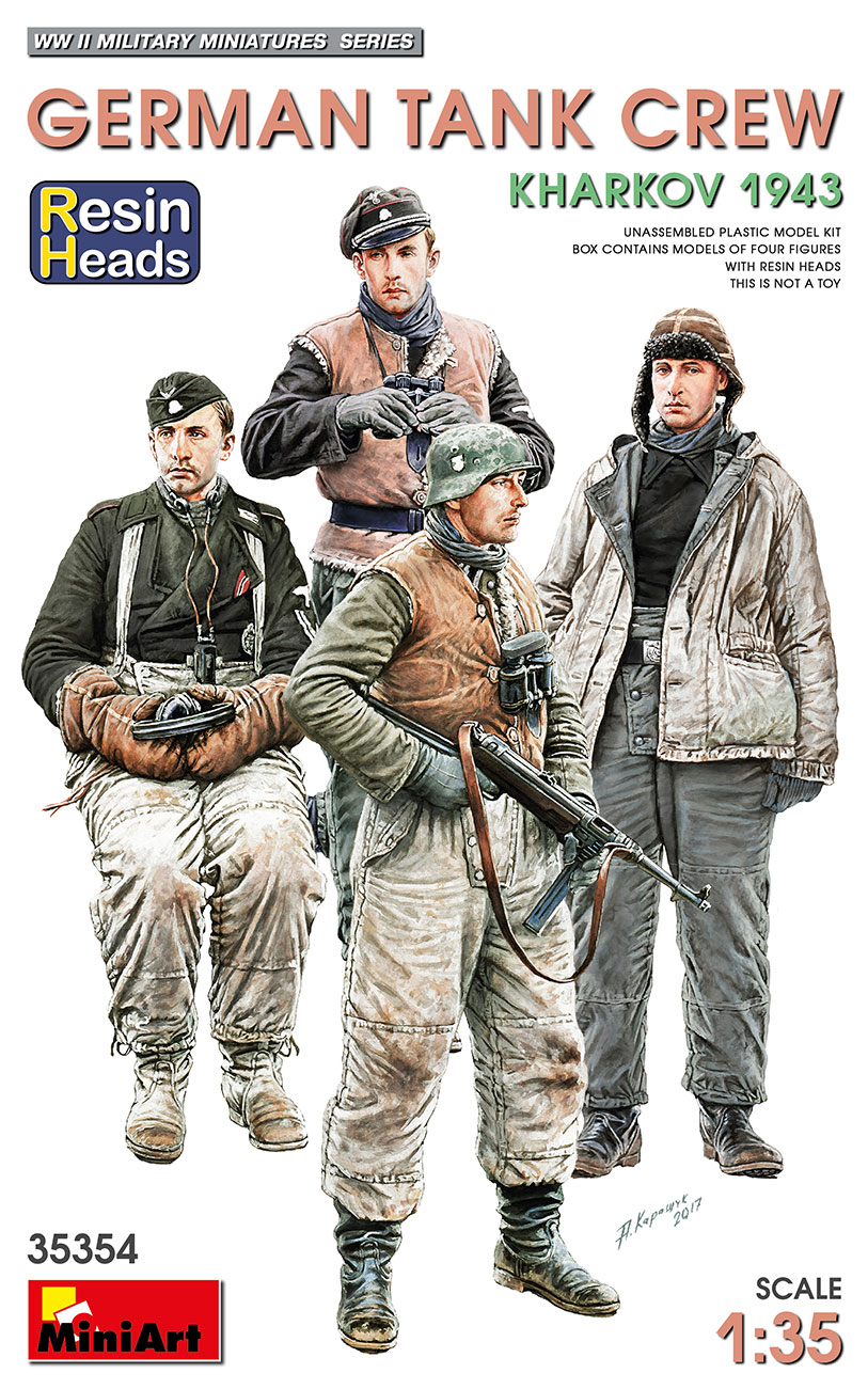 MiniArt 1/35 German Tank Crew.Kharkov 1943. Resin Heads