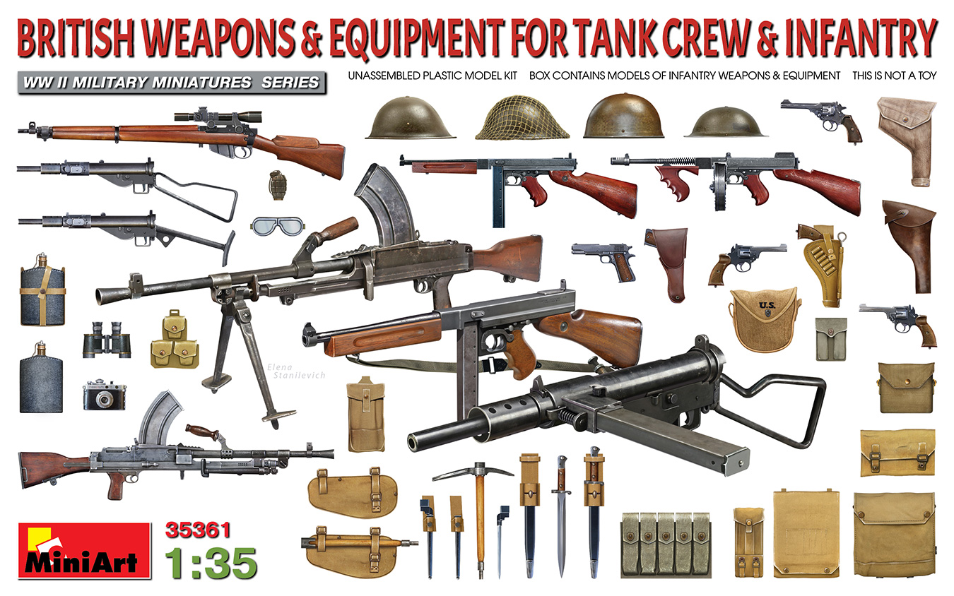 MiniArt 1/35 British Weapons & Equipment For Tank Crew & Infantry